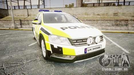 Volkswagen Passat 2014 Marked Norwegian Police para GTA 4