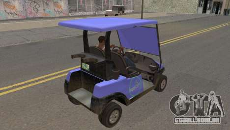 Caddy from GTA 5 para GTA San Andreas traseira esquerda vista