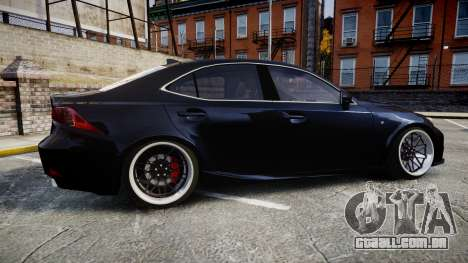 Lexus IS 350 F-Sport para GTA 4 esquerda vista
