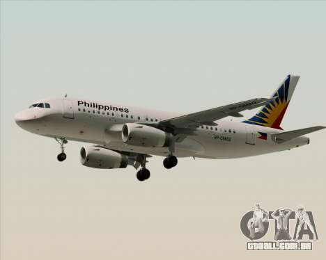 Airbus A319-112 Philippine Airlines para GTA San Andreas vista superior
