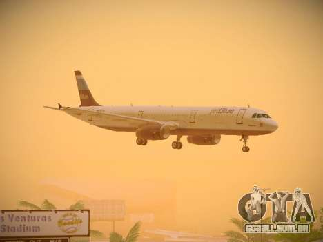 Airbus A321-232 Big Blue Bus para vista lateral GTA San Andreas