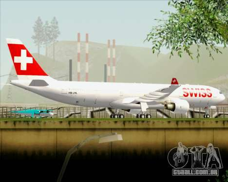 Airbus A330-300X Swiss International Air Lines para GTA San Andreas vista inferior