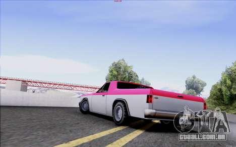 New Picador para GTA San Andreas esquerda vista