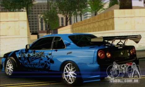 Nissan Skyline R-34 para GTA San Andreas esquerda vista