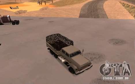 Quartel com quatro portas para GTA San Andreas vista traseira