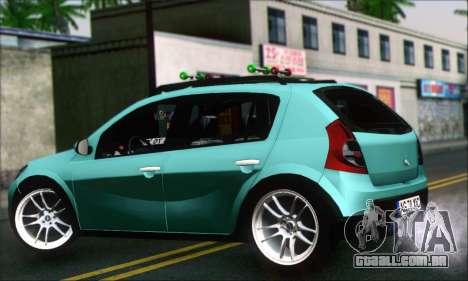 Dacia Sandero XIC para GTA San Andreas esquerda vista