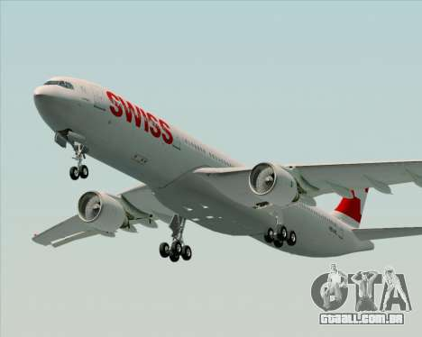 Airbus A330-300X Swiss International Air Lines para GTA San Andreas esquerda vista