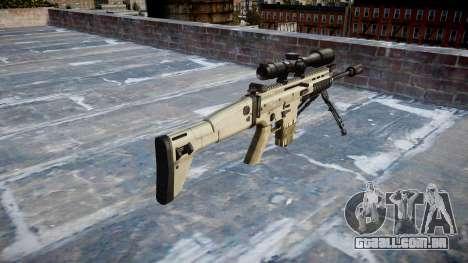 Rifle Mk 17 SCAR-H bipé para GTA 4 segundo screenshot