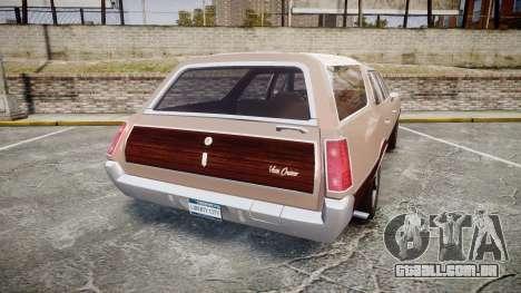 Oldsmobile Vista Cruiser 1972 Rims1 Tree4 para GTA 4 traseira esquerda vista