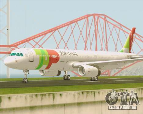 Airbus A321-200 TAP Portugal para GTA San Andreas vista interior