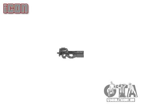 Arma Fabrique Nationale P90 para evitar ser sile para GTA 4 terceira tela