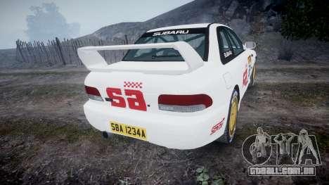 Subaru Impreza WRC 1998 SA Competio v3.0 para GTA 4 traseira esquerda vista