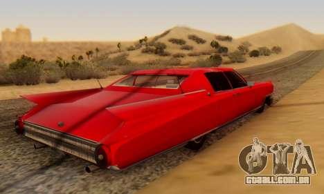 Cadillac Stella II para GTA San Andreas traseira esquerda vista