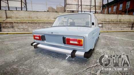 UTILIZANDO-2106 (Lada 2106) para GTA 4 traseira esquerda vista