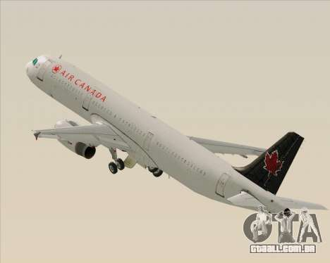 Airbus A321-200 Air Canada para as rodas de GTA San Andreas