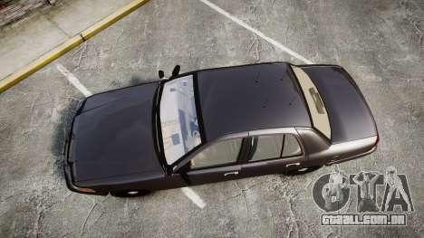 Ford Crown Victoria LASD [ELS] Unmarked para GTA 4 vista direita