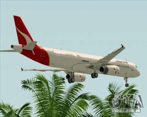 Airbus A321-200 Qantas para GTA San Andreas vista inferior