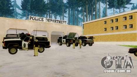 O renascimento de todas as delegacias de polícia para GTA San Andreas por diante tela