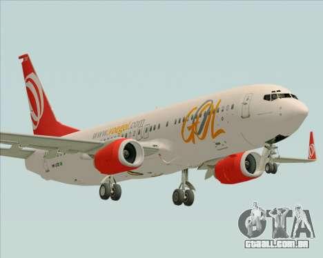 O Boeing 737-800 da Gol Transportes Aéreos para GTA San Andreas vista superior