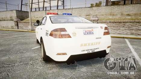 GTA V Vapid Interceptor LSS White [ELS] para GTA 4 traseira esquerda vista