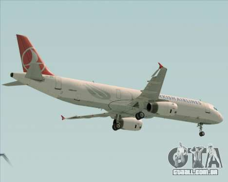 Airbus A321-200 Turkish Airlines para GTA San Andreas vista traseira