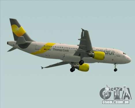 Airbus A320-212 Condor para vista lateral GTA San Andreas