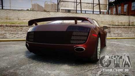 Audi R8 2010 Rotiform BLQ para GTA 4 traseira esquerda vista