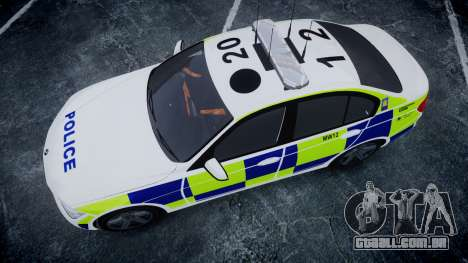 BMW 335i 2013 Central Motorway Police [ELS] para GTA 4 vista direita