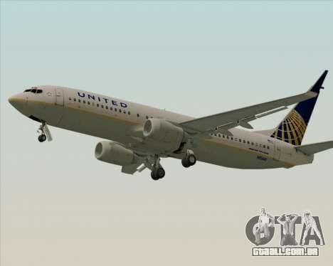 Boeing 737-824 United Airlines para GTA San Andreas traseira esquerda vista
