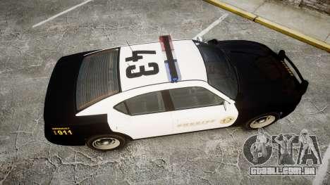 GTA V Bravado Buffalo LS Sheriff Black [ELS] para GTA 4 vista direita