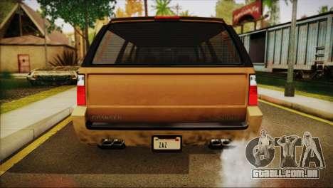 GTA 5 Granger para GTA San Andreas vista direita