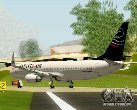 Boeing 737-800 Batavia Air para GTA San Andreas vista traseira