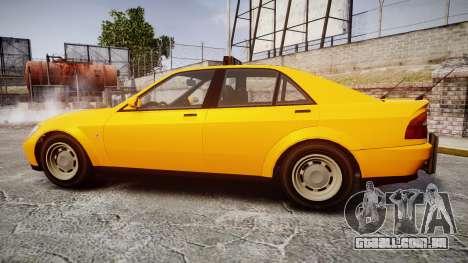Karin Sultan Taxi para GTA 4 esquerda vista