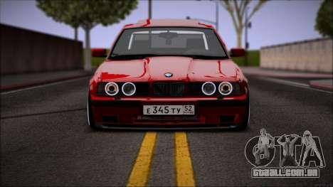 BMW 525i E34 para GTA San Andreas esquerda vista