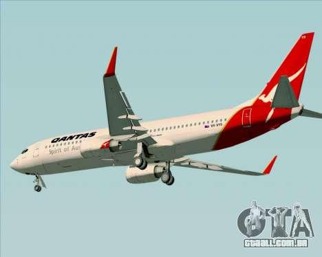 Boeing 737-838 Qantas (Old Colors) para GTA San Andreas traseira esquerda vista