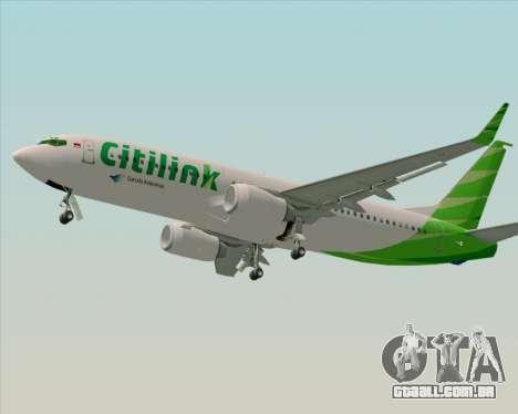 Boeing 737-800 Citilink para GTA San Andreas vista direita