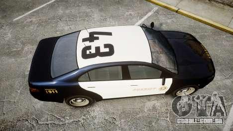 GTA V Vapid Interceptor LSS Black [ELS] Slicktop para GTA 4 vista direita