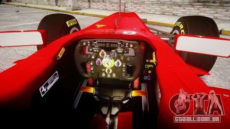 Ferrari 150 Italia Alonso para GTA 4 vista de volta