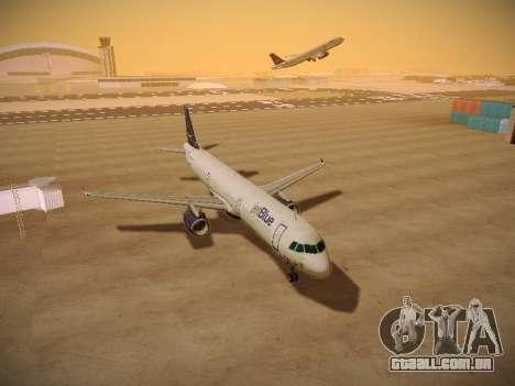 Airbus A321-232 jetBlue Woo-Hoo jetBlue para GTA San Andreas vista interior