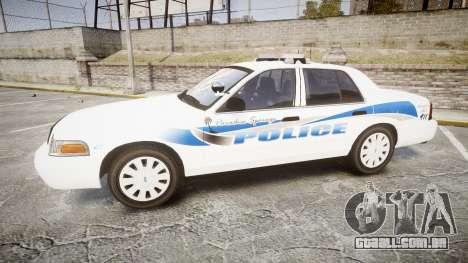 Ford Crown Victoria PS Police [ELS] para GTA 4 esquerda vista