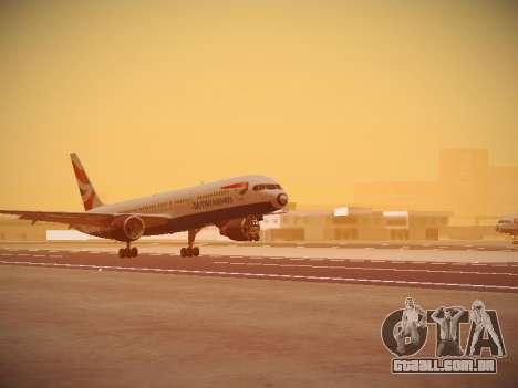 Boeing 757-236 British Airways para GTA San Andreas esquerda vista