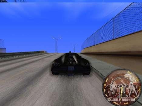 Velocímetro HITMAN para GTA San Andreas por diante tela