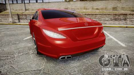Mercedes-Benz CLS 63 AMG Vossen para GTA 4 traseira esquerda vista