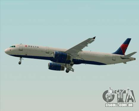 Airbus A321-200 Delta Air Lines para o motor de GTA San Andreas