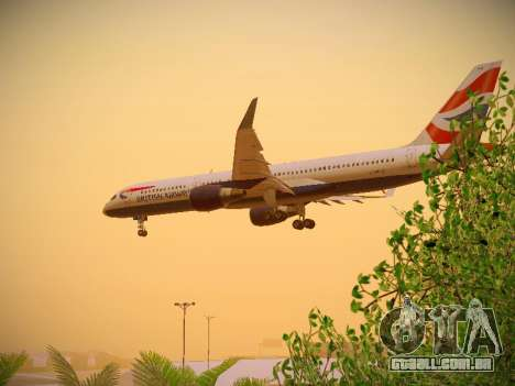 Boeing 757-236 British Airways para GTA San Andreas interior
