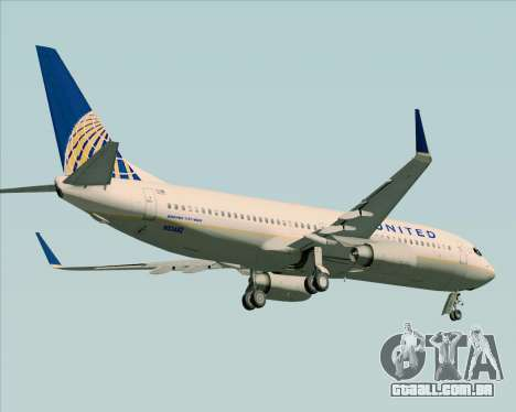 Boeing 737-824 United Airlines para as rodas de GTA San Andreas