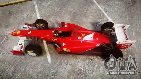 Ferrari 150 Italia Alonso para GTA 4 vista direita