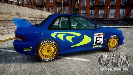 Subaru Impreza WRC 1998 Rally v2.0 Green para GTA 4 esquerda vista