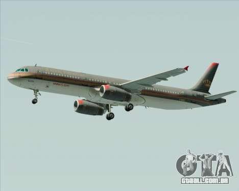 Airbus A321-200 Royal Jordanian Airlines para GTA San Andreas vista direita