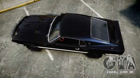 Shelby GT500 428CJ CobraJet 1969 para GTA 4 vista direita